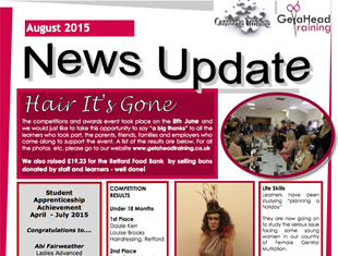 GeTaHead Training Newsletter - August 2015