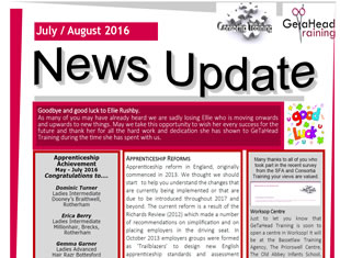 GeTaHead Training Newsletter - July August 2016